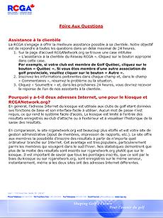 FAQ des administrateurs
